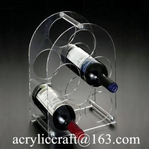 China Latest Fashion Acrylic Wine Rack / Plexiglass Bottle Holder / Perspex Wine Display Stand on sale