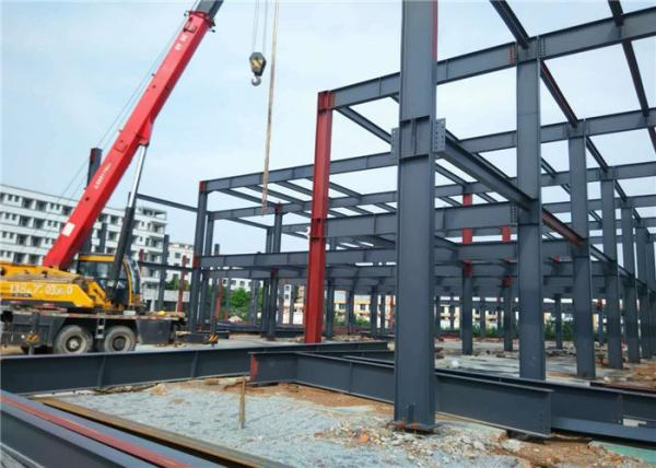 Quality Modern Prefabricated Steel Buildings , H Section Premade Metal Buildings for sale