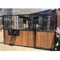 China Metal Horse Equipment Horse Stall Panels Equestrian House Stable Stall Doors wholesale