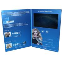 China VIF Free Sample Magnetic switch graduations digital video brochure 7 inch  with A4 / A5 paper for business invitations on sale