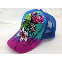 China Sublimation Trucker Mesh Cap Fashion Girl Music Hat with Large Embroidery on sale