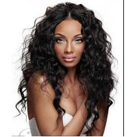 China Brazilian Curly Full Lace Wigs Human Hair Wigs With Baby Hair Natural Black on sale
