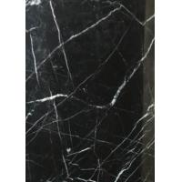 China Black Marquina Nero Marquina Gloss Marble Floor Tiles Frost Resistance on sale