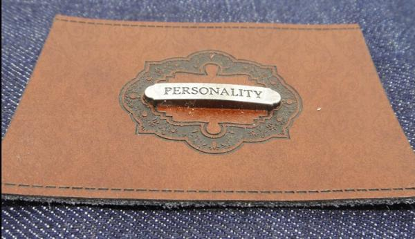 Quality Customized embossed fake leather patch label or imitation leather tags for jeans, men jackets and apparel for sale
