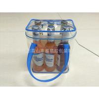 China Water Resistant Plastic PVC Wine Bag , Wine Bottle Ice Bags Cooler With Tube Handles wholesale