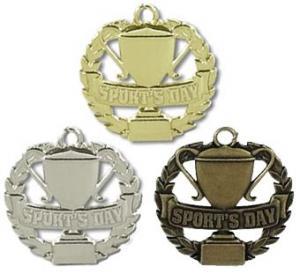 China Badminton Zinc Alloy Souvenir Silver Medal wholesale