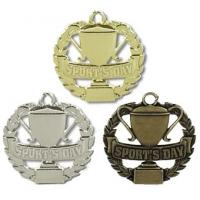 China Badminton Zinc Alloy Souvenir Silver Medal wholesale