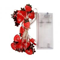 China Battery powered strawberry led copper wire fairy string wholesale