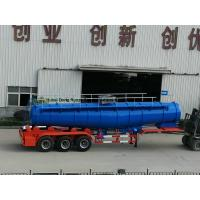 China Concentrated Sulfuric Acid Tanker Truck V Shape 21000L H2SO4 98% Tri Axle BPW wholesale