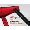 China Fer plat de redresseurs rechargeables sans fil rouges de cheveux avec le chargeur d'USB wholesale