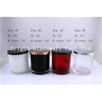 China Colored Glass Votive Holders With Metal Lids wholesale