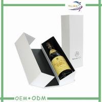 China White Personalized Wine Gift Boxes Foil Stamp Logo OEM / ODM wholesale