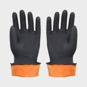 Black Latex Work Gloves for Component Handing , Automotive , Warehousing