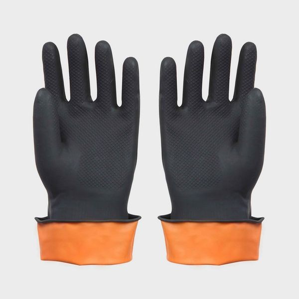 Quality Black Latex Work Gloves for Component Handing , Automotive , Warehousing for sale
