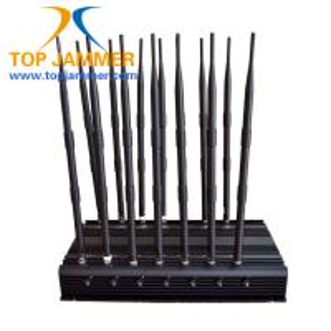 14 Channels 35w Cellphone Signal Jammer Block GSM DCS 3G 4G LTE Wifi 5.8G Lojack 315 433