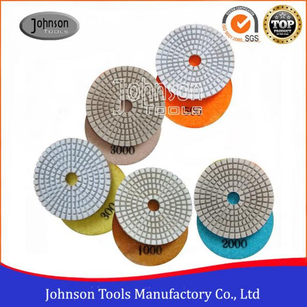 Quality White Type Diamond Resin Polishing Pads , Stone Polishing Pads 75mm - 180mm for sale