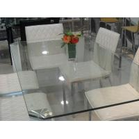 China Rectangle Glass Top Table Desk , Thick Glass Table Transparent wholesale