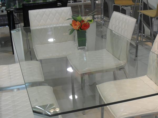 Quality Rectangle Glass Top Table Desk , Thick Glass Table Transparent for sale