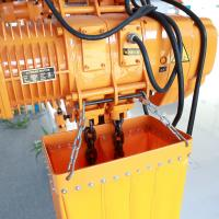 China Durable 24V 10 Ton Electric Chain Hoist With Trolley With Heat Protection Gear wholesale