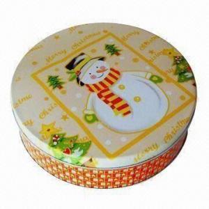 China Gift Tin Box, Measures Ø230x58mm wholesale
