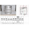 China German Standard 30L DIN Keg Automatic Polish Finish With FDA And LFGB wholesale