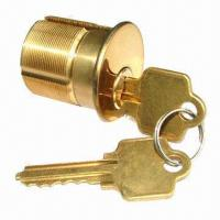 China Mortise Cylinder Lock, Made of Solid Brass, Available in 15/16, 1, 1-3/8 and 1-1/2 Inches Sizes wholesale