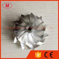 China TD05H 49179-02712 56.24/75.00mm 11+0 blades high performance Lower blade turbo billet/aluminum 2024 compressor wheel on sale