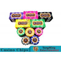 China Embedded Feel Casino Poker Chip Set With Environmental Protection Materials for sale