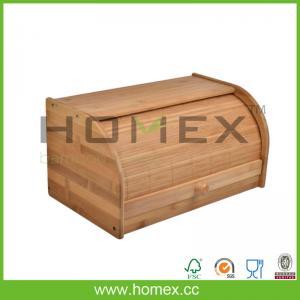 China Nature non-toxic bamboo bread bin/bread box/HOMEX-FDA/FSC/SGS/LFGB/BSCI on sale