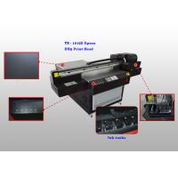 China Four Color Flatbed UV Leather Ultraviolet Printer , Automatic Leather Printing Machine wholesale