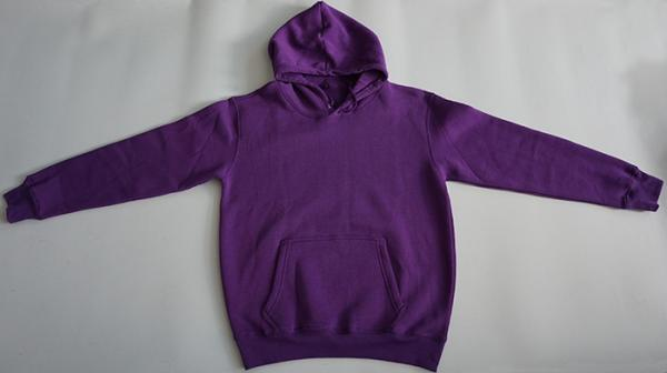 Quality Purple Cotton Men'S Fleece Pullover Hoodie Breathable Complex Design Logo Printing for sale