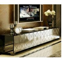 China Silver Mirrored TV Stand Metal Hinge W200 * D40 * H42cm Size Durable Wood wholesale