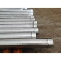 China Wedge Wire Rotary Screen Water Well Pipe for Filter Welded Johnson Stainless Steel V-Wire Wound Panels on sale