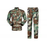 China Multi Camo Woodland Military Combat Uniform With Reinforced Internal Knee Pockets wholesale