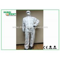 China SMS Type 5 6 disposable coverall suit / Anti Virus disposable protective coverall on sale