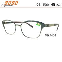 China Unisex fashion design reading glasses with stainless steel, suitable for men and women wholesale