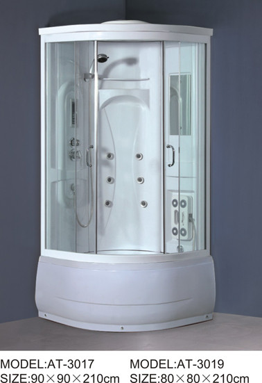 Quality ABS shower stall 800mm Quadrant Shower Enclosures with tray and waste 230V Voltage for sale
