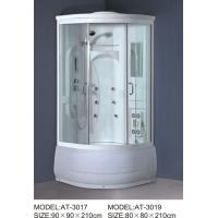 China ABS shower stall 800mm Quadrant Shower Enclosures with tray and waste 230V Voltage wholesale