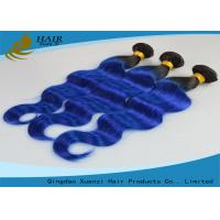 China 1B Blue Body Wave Long Lasting Brazilian Virgin Human Hair Extensions Weft wholesale