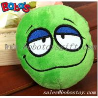 China Green Plush Squeakly Face Style Pet Toy Dog Cat Toy wholesale