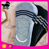 China 2017  95%Polyester 5%Spandex 24g 24cm Summer Cotton Material Striped Sweat-Absorbent Invisible Winter Boat Socks wholesale