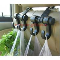 China New Double Auto Car Back Seat Headrest Hanger Holder Hooks Clips For Bag Purse Cloth Grocery Automobile Accessories wholesale