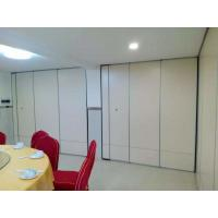 China Sliding Movable Office Acoustic Room Dividers with Aluminium Track Melamine Surface wholesale
