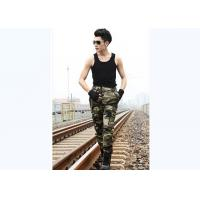 China Men Neutral Style Military Camouflage Pants Two Zipper Back Pockets For Field Training on sale
