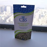 China Matte White Hemp Seeds Resealable Packaging Bags , Plastic Pouch Packaging wholesale