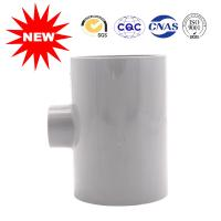 Positive Three Links Gray UPVC PVC Tee Pipe Fittings Lightweight Widely Used