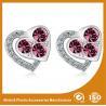 China Pretty Stainless Steel Stud Earrings Metal Earrings For Ladies / Girls wholesale
