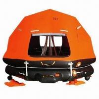 China Self-righting Davit Launching Inflatable Life Raft with SOLAS Approval wholesale