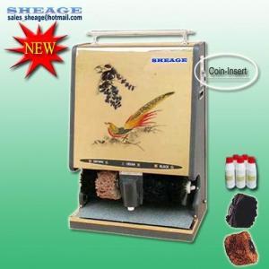 China Automatic Shoe Polishing Machine, Coin Shoe Polisher, Shoe Cleaner, Coin Dispenser, SHE-G205 wholesale