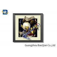China CMYK Printing 5D Pictures Lenticular Image / Poster With White MDP Frame wholesale